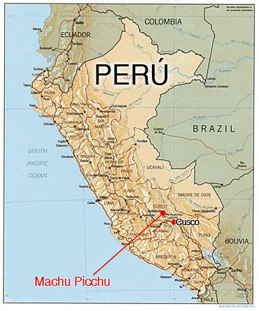 Aguas Calientes Peru Map.Machu Picchu