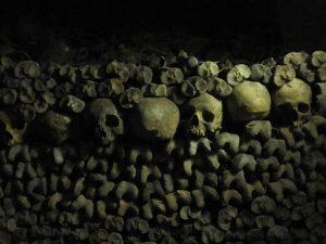 catacumbas de París muro