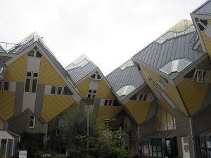casas cúbicas de rotterdam exterior