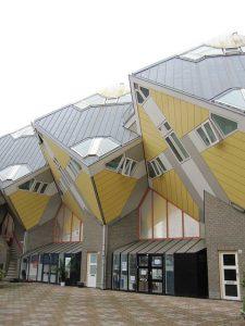 arquitectura de las casas cúbicas de rotterdam