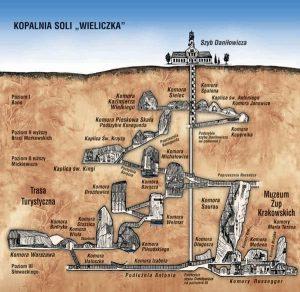 plano minas de sal de wieliczka