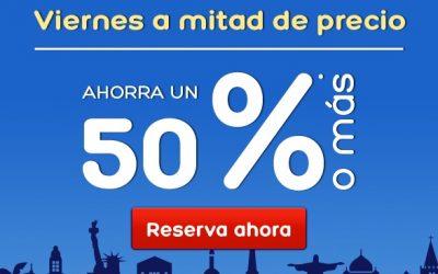 Viernes a mitad de precio en Hoteles.com